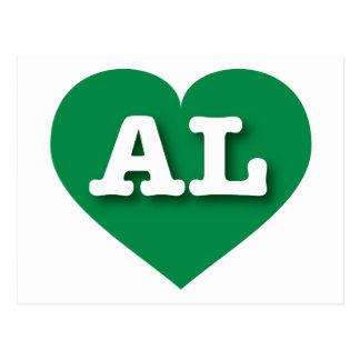 Alabama AL green heart Postcard