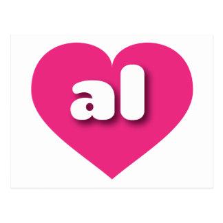 Alabama al hot pink heart postcards