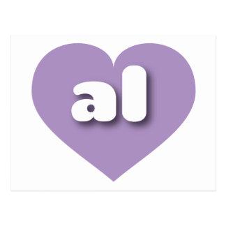Alabama al lavender heart postcards