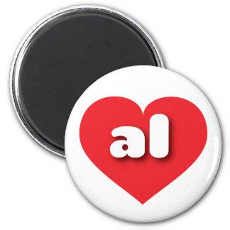 Alabama AL red heart Magnets