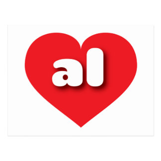 Alabama al red heart post cards