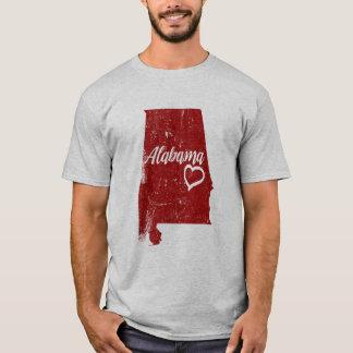 Alabama AL State Love Distressed Vintage tshirt