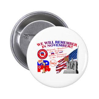 Alabama Anti ObamaCare We Will Remember Button