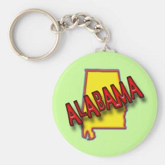 ALABAMA BASIC ROUND BUTTON KEY RING
