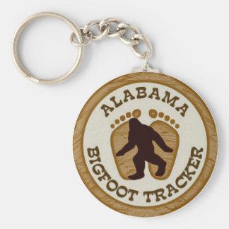 Alabama Bigfoot Tracker Basic Round Button Key Ring