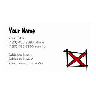 Alabama Brush Flag Pack Of Standard Business Cards
