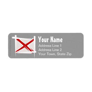 Alabama Brush Flag Return Address Label