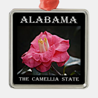 Alabama Camellia Metal Ornament