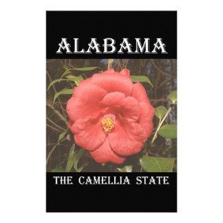 Alabama Camellia (Red) Customised Stationery