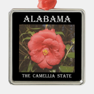 Alabama Camellia (Red) Metal Ornament
