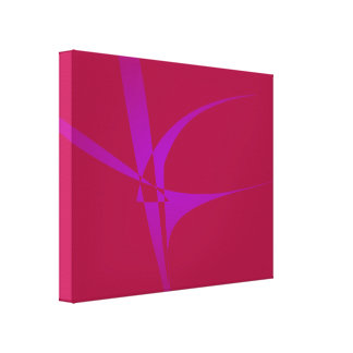 Alabama Crimson Simple Abstract Minimalism Stretched Canvas Prints