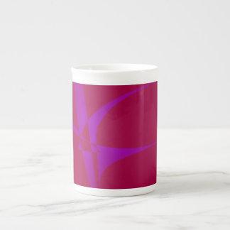 Alabama Crimson Simple Abstract Minimalism Bone China Mugs