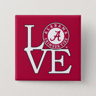 Alabama Crimson Tide Love 15 Cm Square Badge