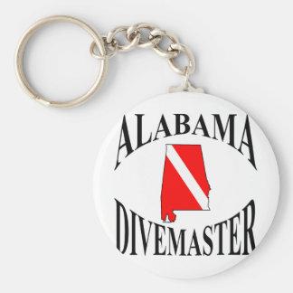 Alabama Divemaster Basic Round Button Key Ring