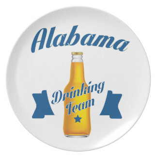Alabama Drinking team Plate