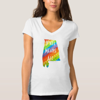 """Alabama Equality """"Y'all Means All"""" V-neck Tee"""