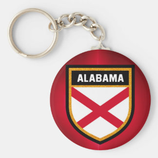 Alabama Flag Basic Round Button Key Ring