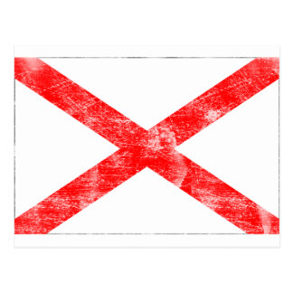 Alabama Flag (Distressed) Postcard