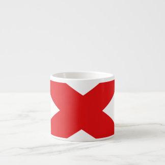 ALABAMA FLAG ESPRESSO CUPS