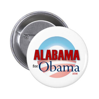 Alabama for Obama 6 Cm Round Badge