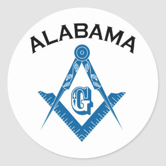 Alabama Freemason Classic Round Sticker