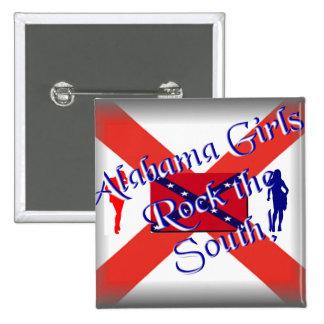 Alabama girls Square Button