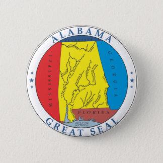 Alabama great seal 6 cm round badge