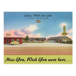 Alabama, Grimes Motel & Cafe Postcard