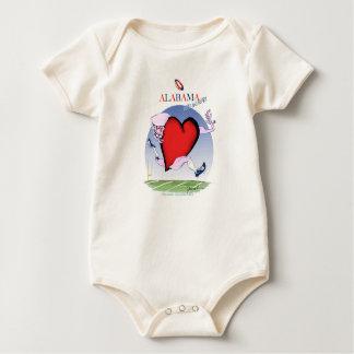 alabama head heart, tony fernandes baby bodysuit