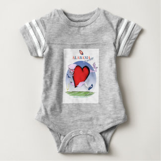 alabama head heart, tony fernandes baby bodysuit