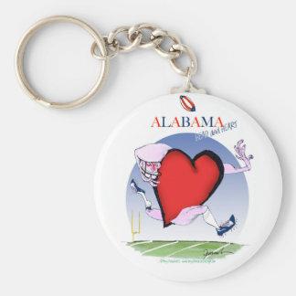 alabama head heart, tony fernandes basic round button key ring