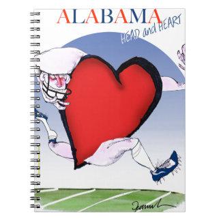 alabama head heart, tony fernandes notebook