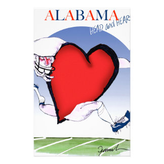 alabama head heart, tony fernandes stationery