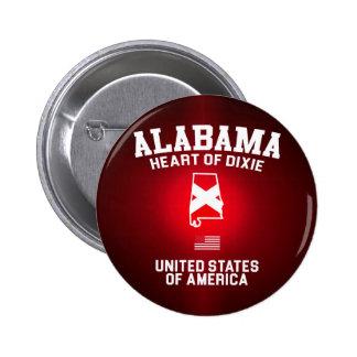 Alabama Heart of Dixie 6 Cm Round Badge