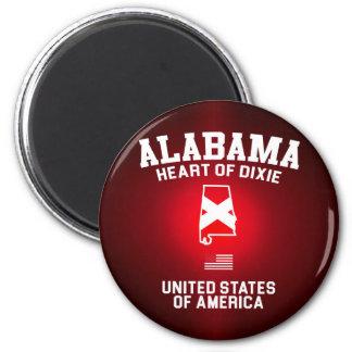 Alabama Heart of Dixie 6 Cm Round Magnet
