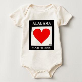 Alabama Heart of Dixie Baby Bodysuit