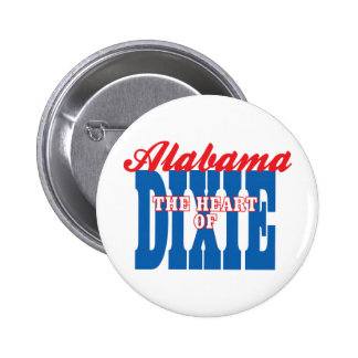 Alabama Heart of Dixie Pinback Buttons