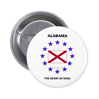 Alabama Heart of Dixie Buttons
