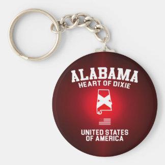 Alabama Heart of Dixie Basic Round Button Key Ring