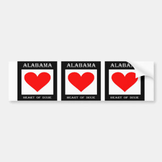 Alabama Heart of Dixie Bumper Sticker
