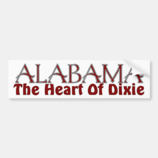 Alabama heart of Dixie bumper stickers
