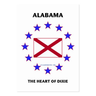Alabama Heart of Dixie Business Cards