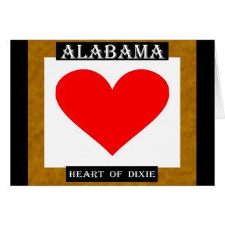 Alabama Heart of Dixie Card