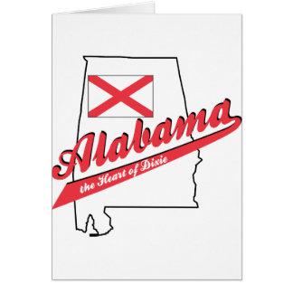 Alabama Heart of Dixie! Greeting Card