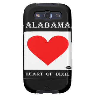 Alabama Heart of Dixie Galaxy S3 Cases