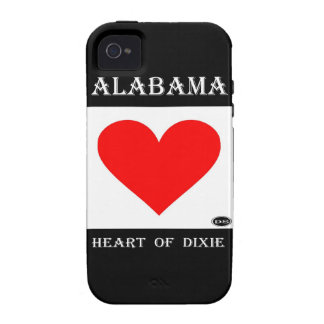 Alabama Heart of Dixie Case-Mate iPhone 4 Cases