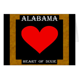 Alabama Heart of Dixie Greeting Card