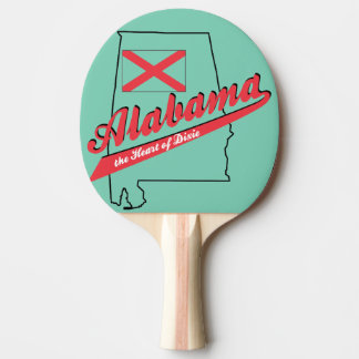 Alabama Heart of Dixie Ping Pong Paddle