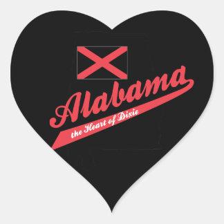 Alabama Heart of Dixie Heart Sticker