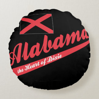 Alabama Heart of Dixie Round Pillow